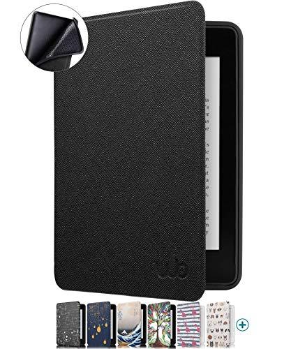 Capa Novo Kindle Paperwhite à Prova D'água WB Ultra Leve Auto Hibernação Sensor Magnético Silicone Flexível Preta