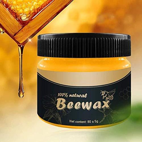 Wood Seasoning Beewax - Cera de abeja tradicional para madera y muebles, Beewax multiusos para limpieza de madera y toallitas de pulido - No tóxico para muebles para embellecer y proteger (1 paquete)