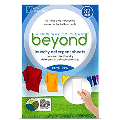 *New* Beyond Concentrated Laundry Detergent Sheets (Laundry Detergent Strips) Fresh Linen Scent