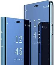 جراب هاتف Samsung J4 Plus من LEECOCO بتصميم رقيق وواضح مطلي بالكهرباء المكياج [مسند] غطاء واقٍ للجسم بالكامل غطاء قلاب مقاوم للصدمات لهاتف Samsung Galaxy J4 Plus 2018