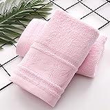 Toalla de algodón egipcio 75* 35 cm 2 piezas de suave juego de toallas de bambú, toalla de fibra de bambú, toalla de...