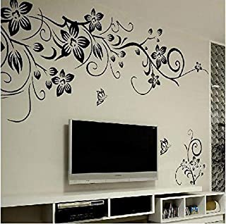 Butterfly Flowers Trees DIY Wall Stickers Decals Art