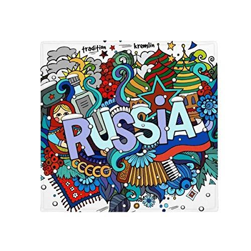 DIYthinker Rusland Winter Accordeon Casino Illustratie Anti-Slip Vloer Huisdier Mat Vierkant Thuis Keuken Deur 80 Cm Gift
