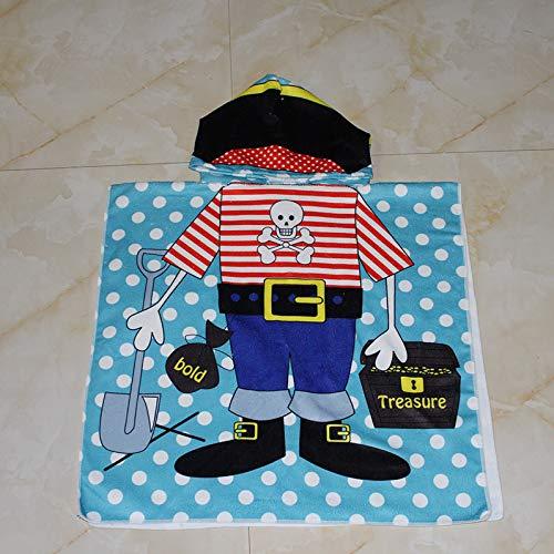 WZNB Kinder können Strandkleidung zum Schwimmen Badetuch Bademantel Umhang Baby Kapuze Badetuch 60 * 120CM kleinen Chef tragen