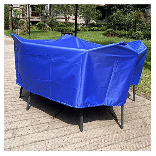Apodis Copertura per Mobili da Giardino, Copritavolo Esterno Impermeabile Rettangolare, Panno Oxford Antivento/UV per Proteggi Tavolo e Sedie da Esterni, Grigio