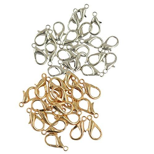 B Baosity 40 Piezas 18 Mm Cierres de Langosta de Metal para Bricolaje Collar Pulsera Hallazgos Sujetador