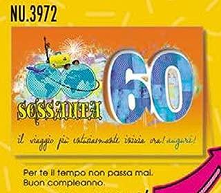 Amazon It Compleanno 60 Anni Biglietti D Auguri