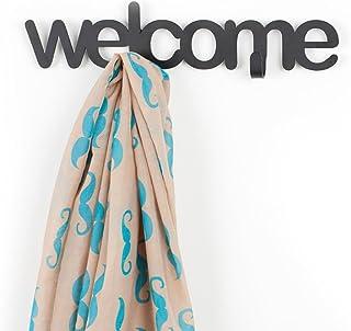 Balvi/-/Appendino/parete/Welcome/home/bianco/metallo