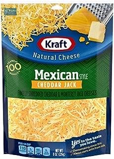 Kraft Shredded Mexican Style Cheddar Jack Cheese, 8 oz Bag