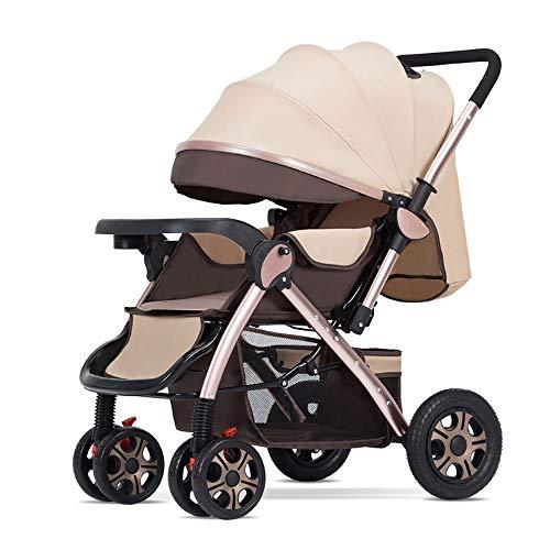 GWX kinderwagen, 3-in-1 kinderwagen, lichte inklapbare kinderwagen, staand formaat, veilig en schokbestendig, voor baby's