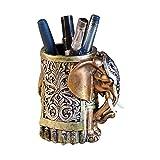 ornerx Resin Pencil Holder Desk Organizer Elephant Head