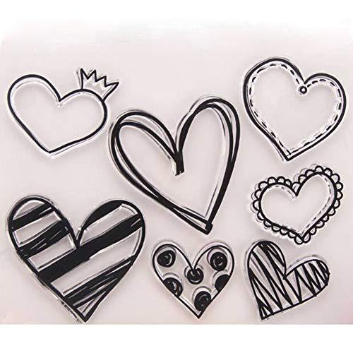 Transparenter liebevoller Herz-Muster-Stempel für Diy Sammelalbum-Dekor