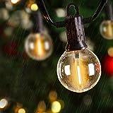 ZOTOYI 100Ft Outdoor Patio String Lights G40 Globe Lights with 50+2Pcs LED Bulbs, Waterproof IP65 Hanging Lights for Bistro, Backyard, Gazebo, Party, Wedding, 2700K Warm White, E12 Sockets