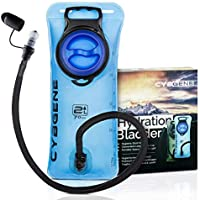 CybGene Bolsa de Hidratación, Bolsa de Agua Portátil de 2 Litro, con una Boca Ancha,Tapa a Prueba de Fugas, y Tubo de Aislados. para Ciclismo,Senderismo,Campamento,Escalada y Bicicleta (Azul)