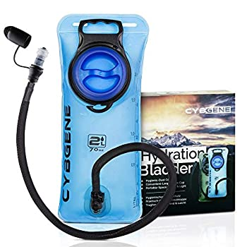 CybGene Vessie d'hydratation, réservoir d'eau de 2 L Couvercle antifuites à Large Ouverture et Couvercle de Tube d'isolation. pour la randonnée, Le vélo et l'escalade (Bleu)