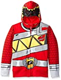 Power Rangers Boys' Little Character Hoodie, Red Dino, 7