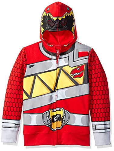 Power Rangers Boys' Little Character Hoodie, Red Dino, 5/6