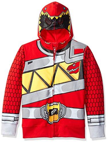 Power Rangers Little Boys Red Ranger Dino Charge Costume Hoodie, Medium-5/6