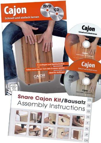Sela Snare Cajon - de nieuwe kit met individueel instelbaar snare-geluid in een set met lesboek / cajonschool + CD + DVD en gereedschap en verbruiksmateriaal, gedetailleerde bouwhandleiding + online video / nauwkeurige hoogwaardige afwerking - made in Germany!