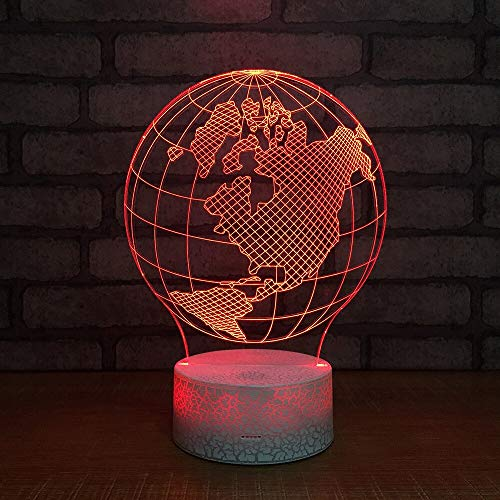 New Globe Home Table lamp Power Supply Colorful lamp Small Table lamp 3D LED Small Table lamp USB Interface Touch Remote Control lamp Colorful Night Light