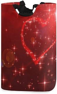 N\A Panier à Linge Valentine, boîte de Panier à Linge Chic Love Grand Rangement étanche Facile à Transporter pour la buand...