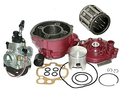 UNTIMERO 90cc Sport Cilindro Culata CARBURADOR Kit Compatible with Yamaha DT R X 50 LC AM6