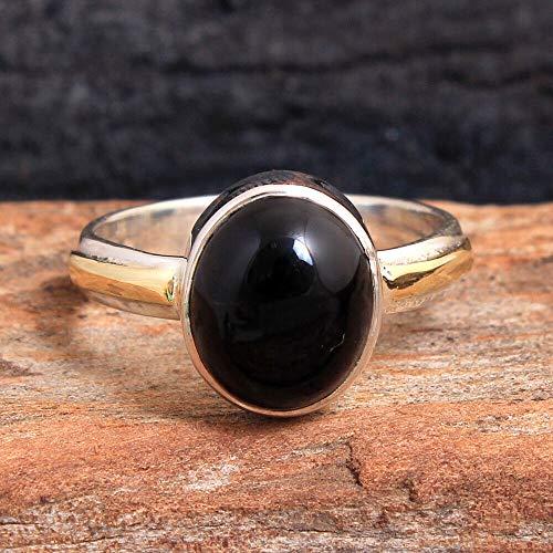 Black-Onyx 925 Sterling Silver Rings for Women, Black Bridesmaid Rings, Oval Gemstone Rings, Elegant Rings, bezel Set Handmade Rings