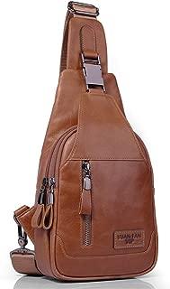 Sling Bag Small,Chest Shoulder Backpack Crossbody Bags for Men Women Outdoors