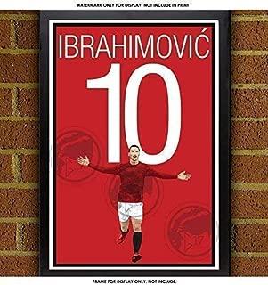 Zlatan Ibrahimović Poster - Manchester United Art