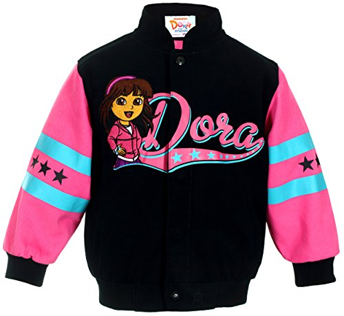 J.H. Design Girl's Dora & Friends Snap-Up Jacket (6)