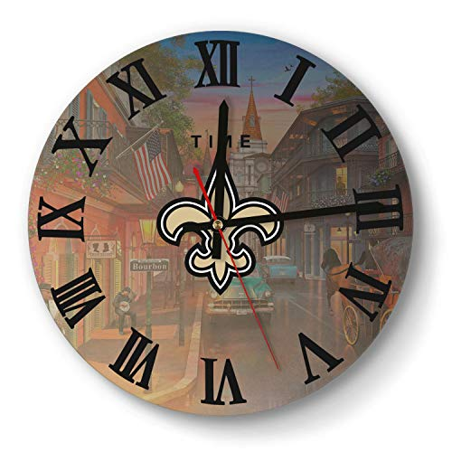 MIWQU Creative New-Orleans-Saints-Logo- Style Wall Clock Decorative School Quiet Clock