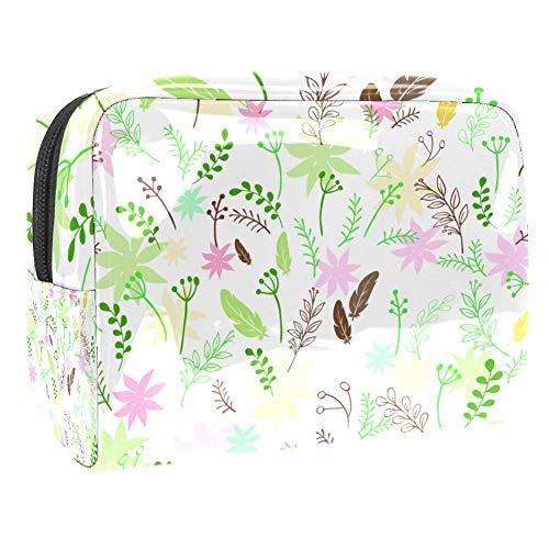 Neceseres de Viaje Buganvillas Portable Make Up Bags Neceser de Práctico Bolsa de Lavado de Baño Viajes Vacaciones Fiesta Elementos Esenciales 18.5x7.5x13cm