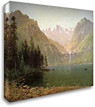 View of Lake Tahoe, Looking Across Emerald Bay 24x20 Gallery Wrapped Stretched Canvas Art by Thomas Hill