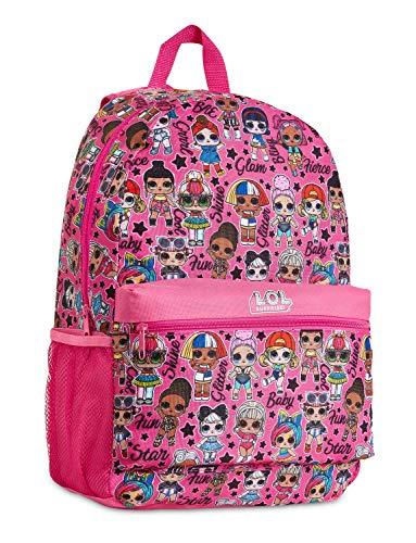 L.O.L. Surprise! Mochila Niña Rosa con Muñecas LOL OMG, Mochilas Escolares Juveniles, Bolsa Infantil Guarderia, Accesorios Escolares LOL, Regalos para Niñas