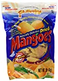 Phillippine Brand Naturally Delicious Dried Mangoes Tree Ripened, 30 Ounces Dried Mango, Pack of 6