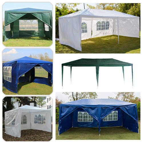 3x2m Canopy Gazebo Marquee Replacement Exchangeable Side Panel Wall Panels Walls, Easy Install, 2Pcs (Blue)