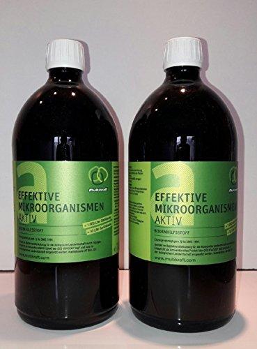 Effektive Mikroorganismen Aktiv (EM-Aktiv), Bodenhilfsstoff - Dünger 2 X 1 l Fl.