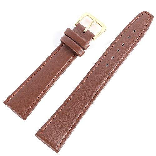 Wingbind, cinturino di ricambio per orologio in vera pelle morbida, 12 mm, 14 mm, 16 mm, 18 mm, 20...