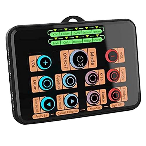 Generic Sound Mixer Board Live Sound Card Voice Changer Mini External Sound...