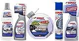 SONAX Xtreme Innen und Außen Pflege Set - Shampoo FelgenReiniger Scheibe Reifen