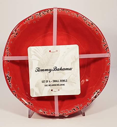 Tommy Bahama Rustic Crackle Set of 4 Melamine Salad Bowls