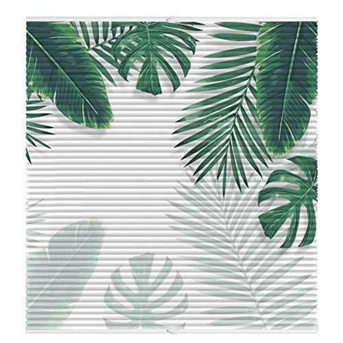 Lqdp Jalousie Rollos Fensterrollos Weißes Blatt gemustertes venezianisches Fenster - 65/85/105 cm Breite, vertikales Waben-Sundown-Blind - Therma, Restaurant-Toilette