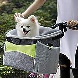 KLOP256 Bicycle Pet Carrier, Bike Pet Basket, Oxford Cloth | Breathable | Detachable Front Handle Bike Basket...