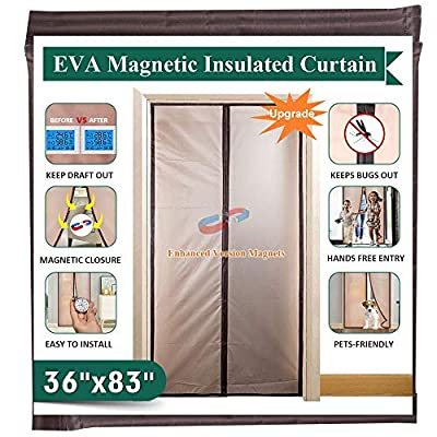 "IKSTAR Magnetic Thermal Insulated Door Curtain, Size 36""x83"" 39""x83"""