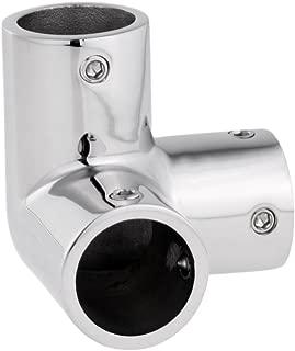 SM SunniMix Boat Handrail Rail Tee Fitting 7/8 inch 90 Degree 3 Way Corner Elbow -Marine 316 Stainless Steel - Silver