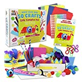 All-in-One-Kit: Contains 400 Craft Supplies To Create All 50 Silly Crafts Of 31 Unique Designs - No Wasted Money On Extra Supplies That Turn Into Clutter Or Garbage. Kit Has The Perfect Quantity Of Pieces Like Pipe Cleaners, Googly Eyes, Beads, Tissu...
