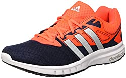 adidas Men's Galaxy 2 M Running Shoes, Black / White / Red (Negbas / Ftwbla / Rojsol), 45 EU