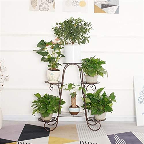 G-HJLXYZWJHOME Bloempothouder van metaal, decoratief, voor binnen en buiten, woonkamer, bloempot voor planten, standaard voor rekken