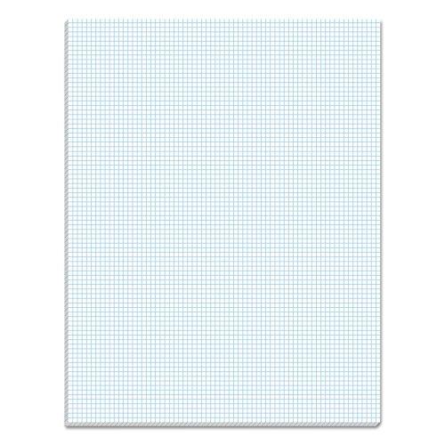 TOPS Quadrille Pad, Gum-Top, 8-1/2 x 11 Inches, Quad Rule , White Paper, 50 Sheets per Pad (33081)