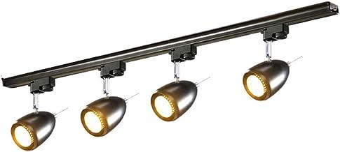 MX Track Light - Industrial Wind Corridor Light Track Lights - 4 Heads - 2 Colors (Black/White) Track Lamp (Color : Black,...